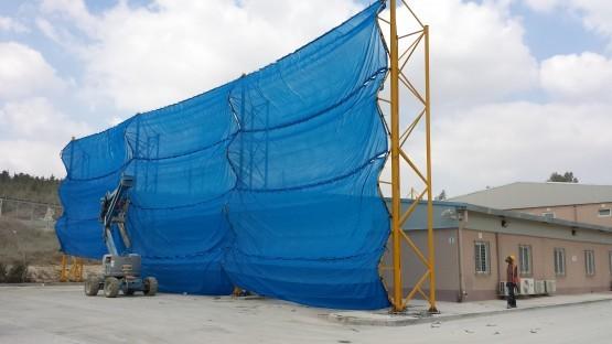 הקמת רשת זיגזג להגנה על מבנה